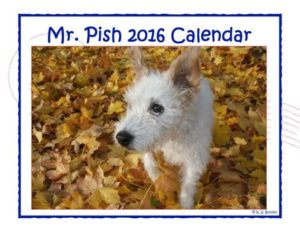 2016 Mr Pish calendar front cover web