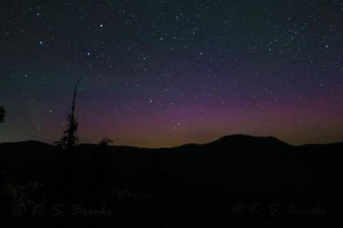 Comet Neowise with Aurora and Airglow Chewelah Peak July 25 2020