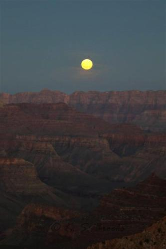 Moonrise Grand Canyon Oct 2016