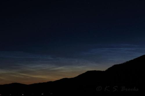 Noctilucent Clouds Chewelah WA Aug 13 2020